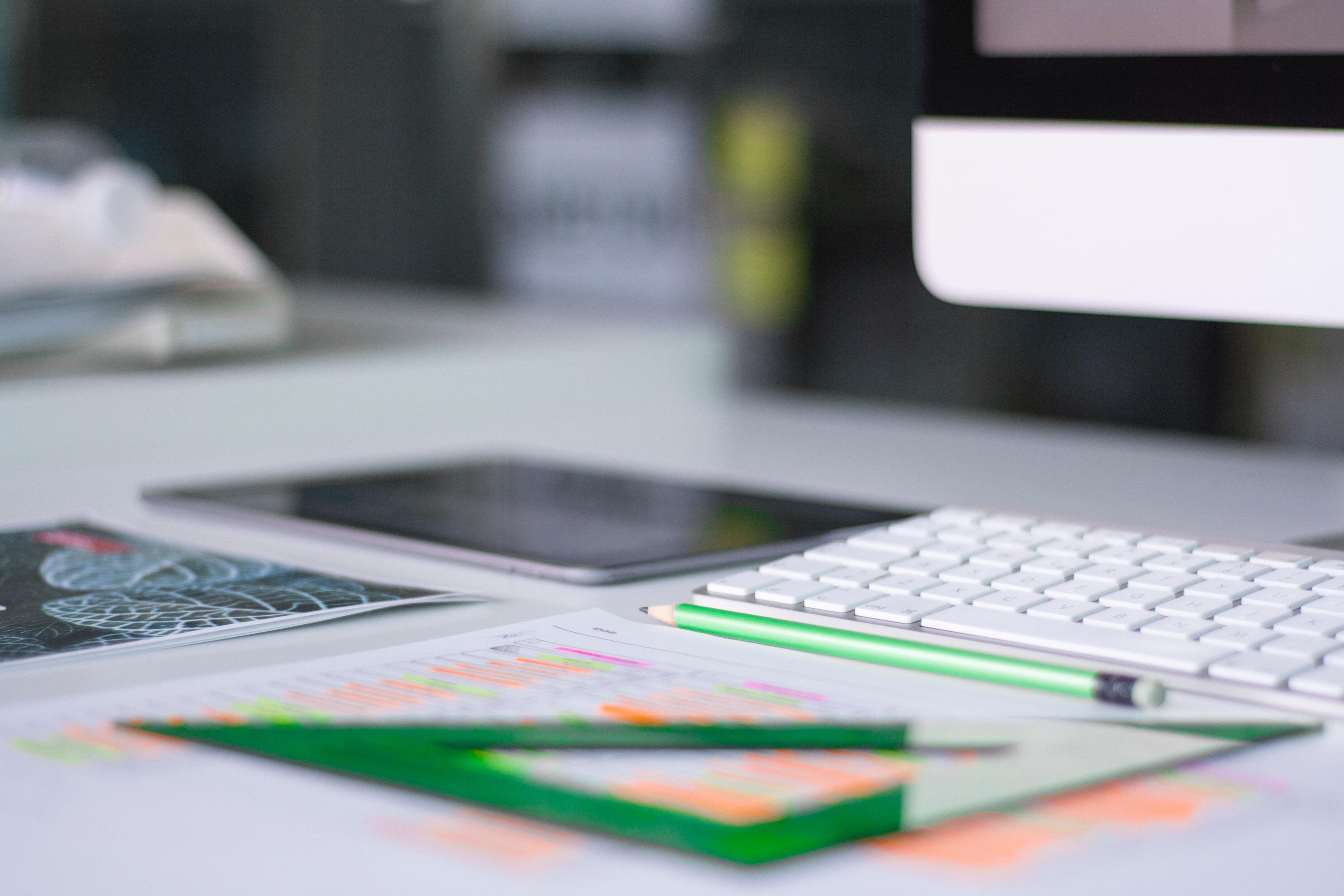 a desktop for website design