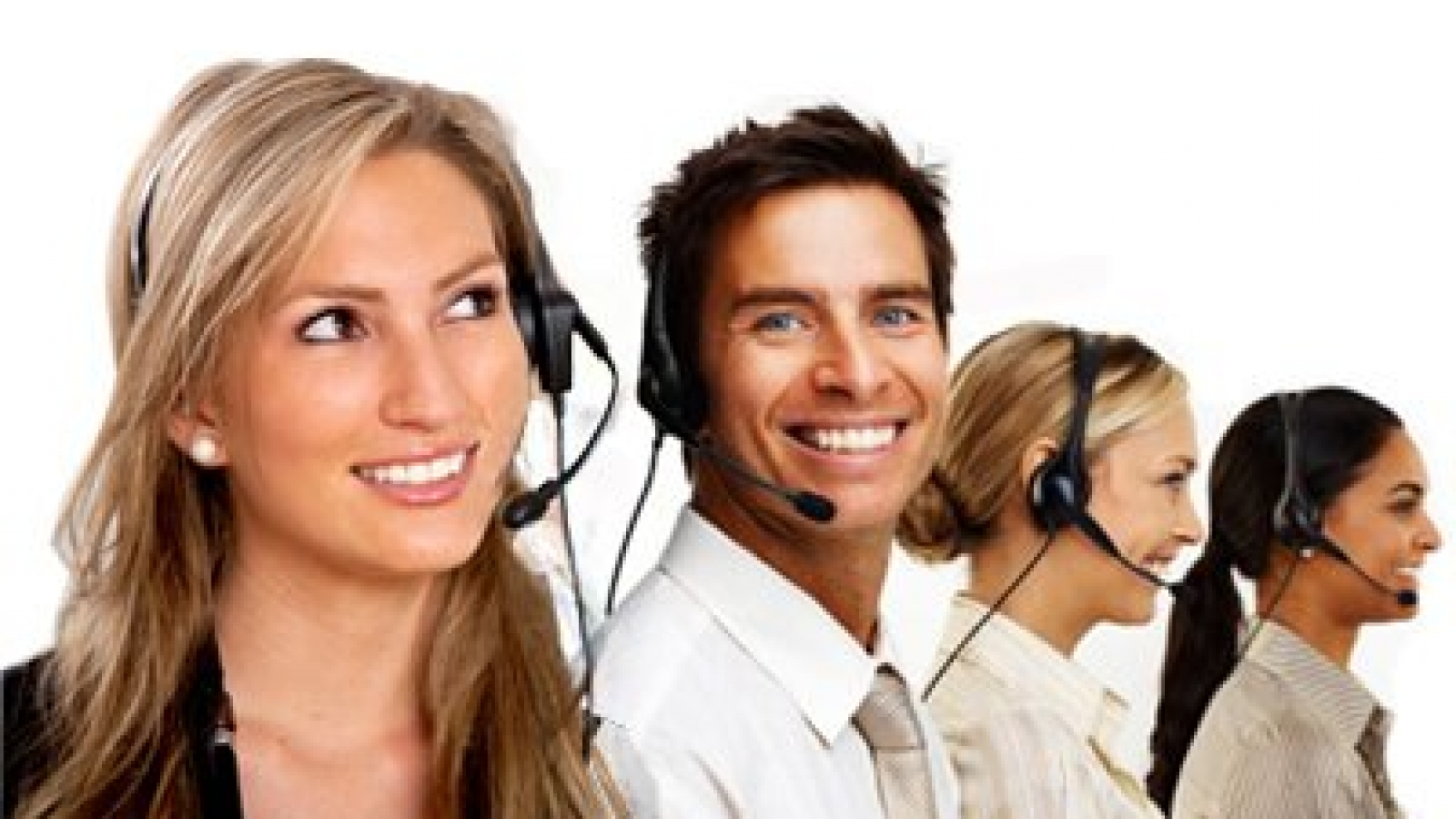 Happy Call Center Employees