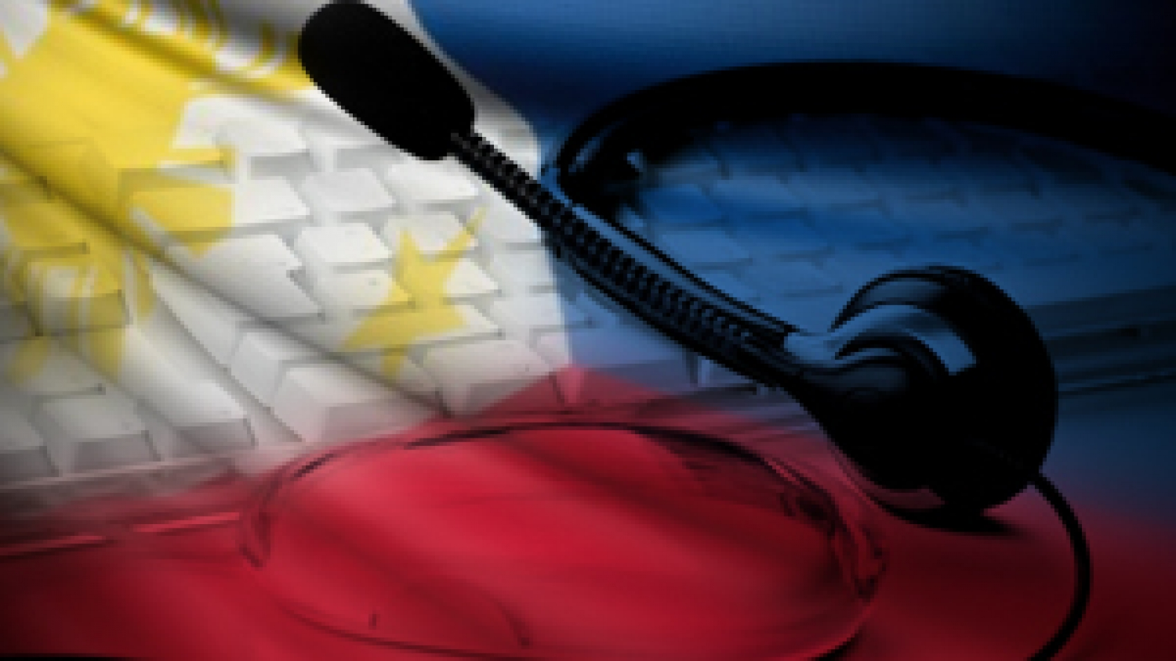 Philippine flag with keyboard and headset