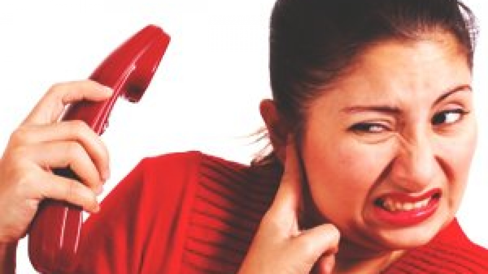 woman listening to an angry customer on phone