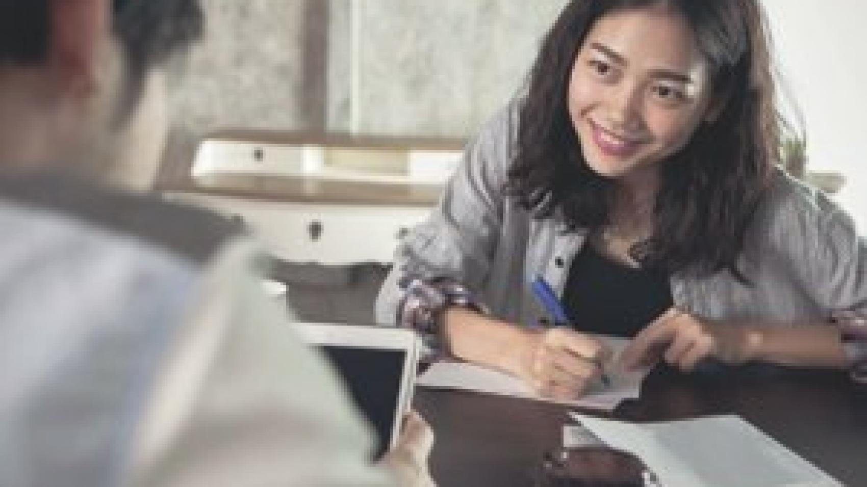 employer interviewing an expert grant writer