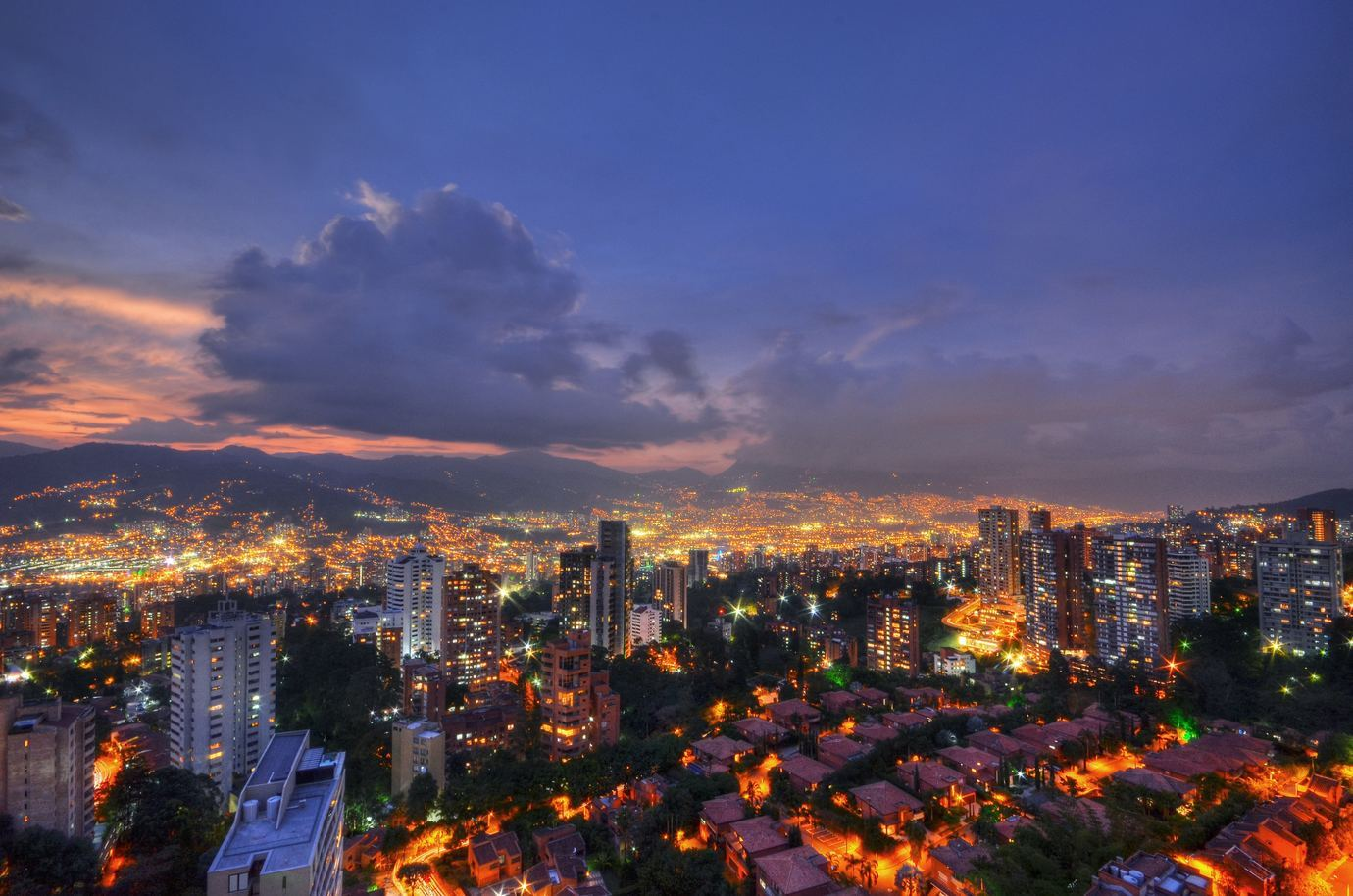va night picture of the city and top outsourcing locations in the Philippines