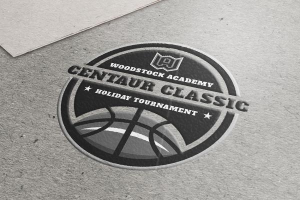 A logo of a ball for centaur classic