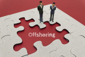 offshoring a form of outsourcing where you ensure that mistakes are made at arm's length