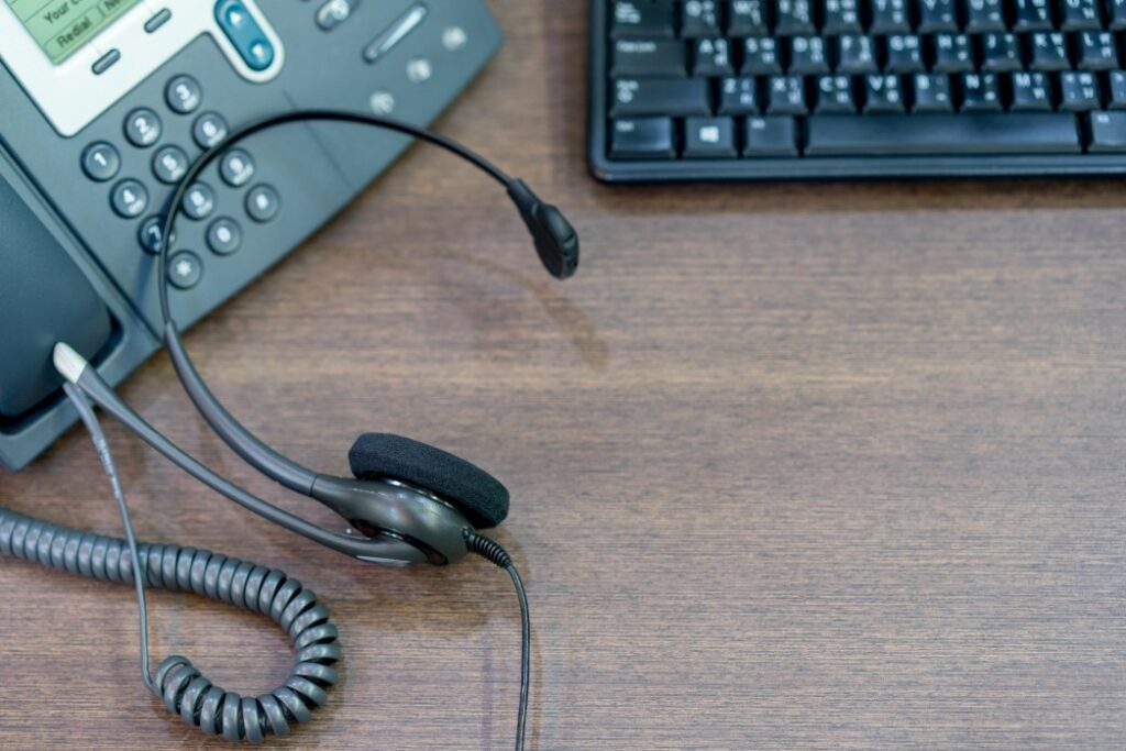 phone, headset, and keyboard as tools used in bpo industry