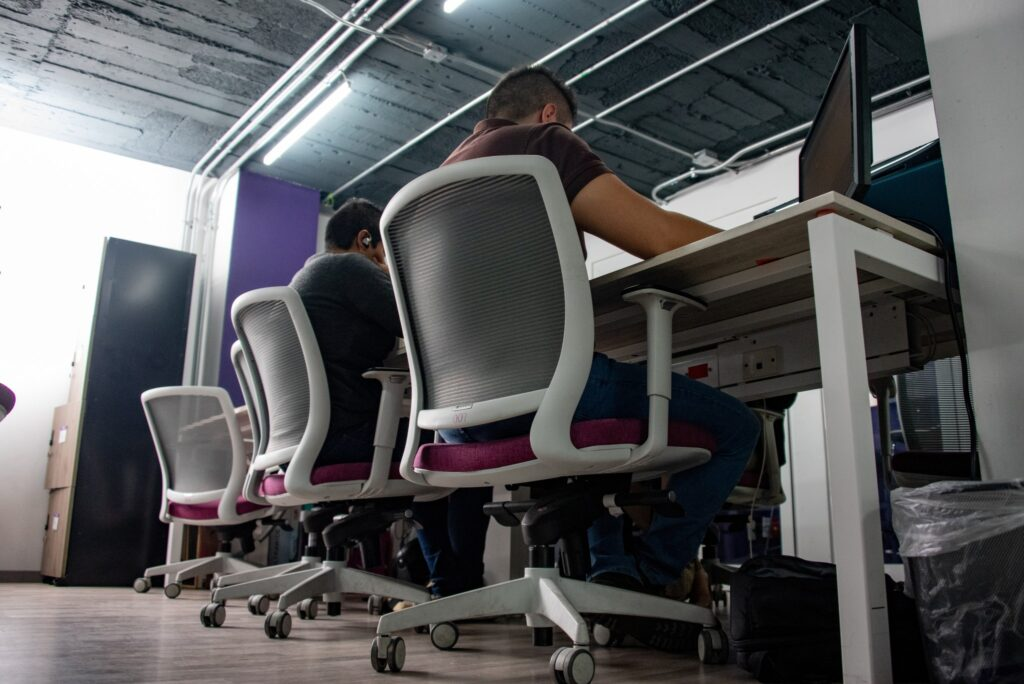 IT professionals at a BPO at work