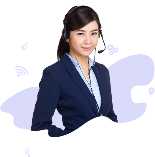 A female in a professional attire ready to provide outbound call centre services