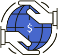 Production-based price icon for outsourcing icon
